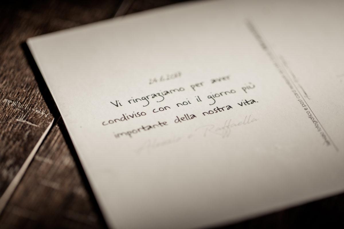 Post Card di ringraziamento