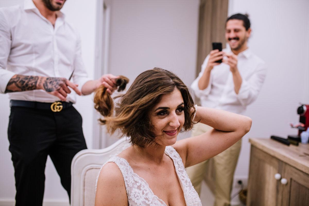 taglio capelli sposa