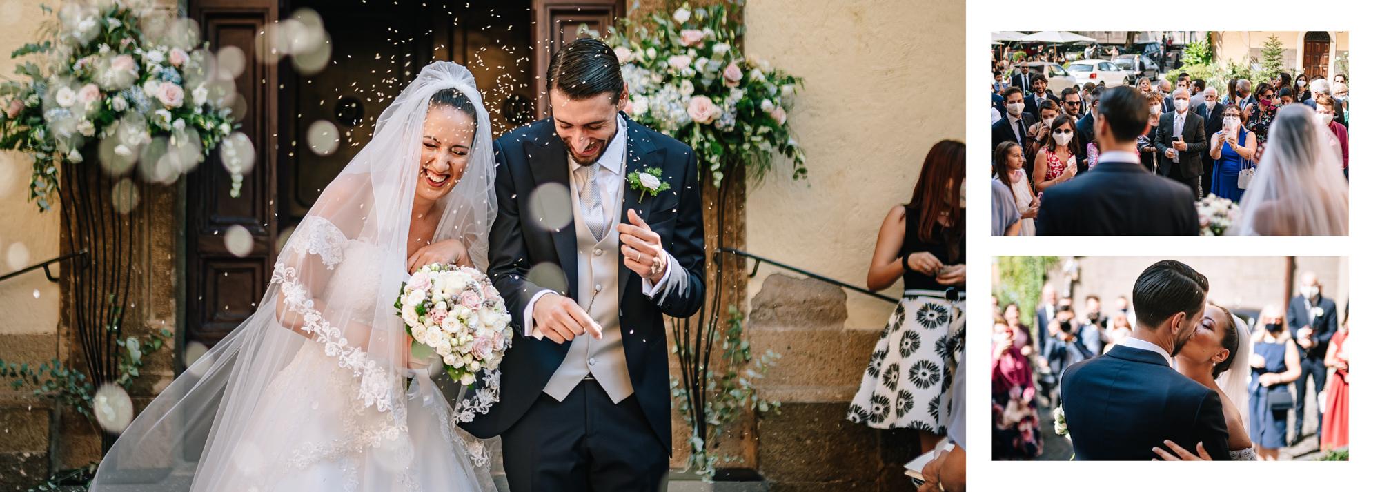 uscita sposi matrimonio frascati