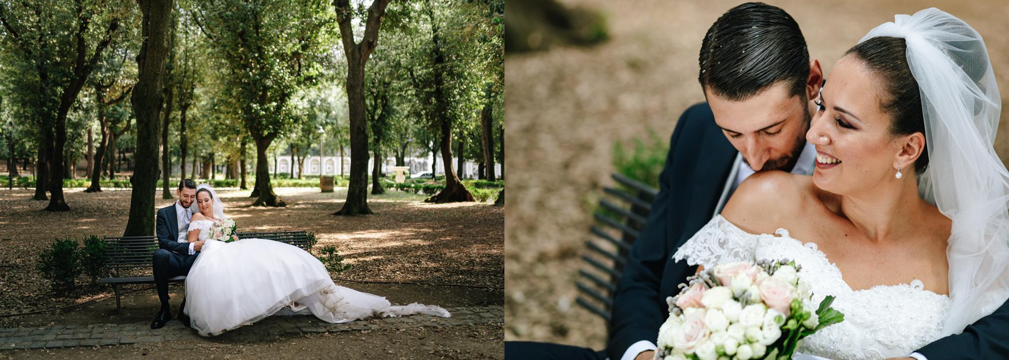 ritratto sposi matrimonio frascati
